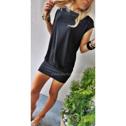 Tunika- sukienka czarna oversize hit!