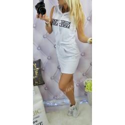 Sportowa sukienka dresowa  biała