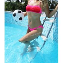 strój kąpielowy, bikini jaskrawe kolory, dwuczęściowy