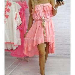 Sukienka asymetryczna neon