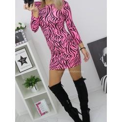 Sukienka Neon zebra
