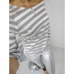 Modna bluzka stripes grey