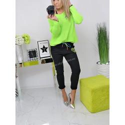 Piękny sweter neon Green