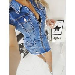 Uwodzicielska sukienka denim Jeans