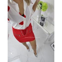 Spódnica zamszowa  Red