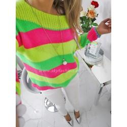 Sweter Rainbow neon