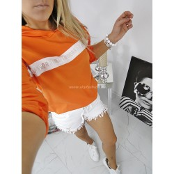 Bluza Sweetissima Orange z lampasami