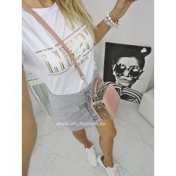Bawełniana spódnica mini z wiązaniem