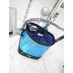 NOBO torebka worek transparentna Blue