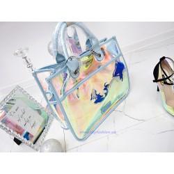 NOBO Duża torebka  transparentna Blue