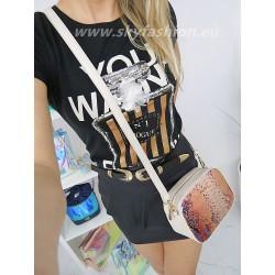 T-shirt , bluzka czarna   z ozdobą