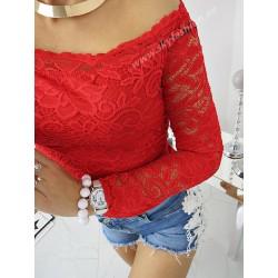 Bluzka hiszpanka koronkowa Ines Red
