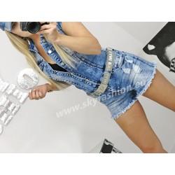 Uwodzicielski kombinezon denim Jeans