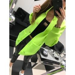 Piankowy płaszcz z aplikacją Paparazzi Fashion