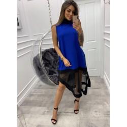 Asymetryczna sukienka z tiulem