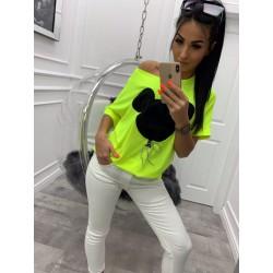 Bluzka Miki neon