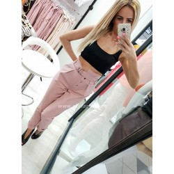 Spodnie z wysokim stanem Pink