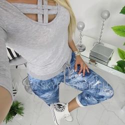 Spodnie dresowe denim print