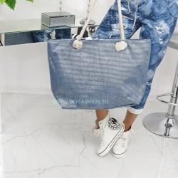 Duża, luksusowa torba plażowa  Blue