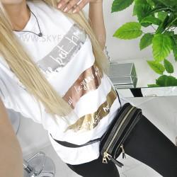 T-shirt , bluzka biała  print