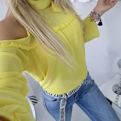 Żółta bluzka szyfon