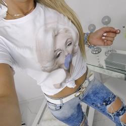 T-shirt , bluzka biała  Marylin Monroe