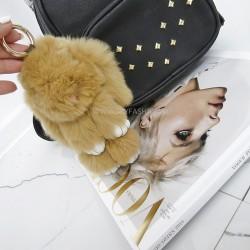 Duży brelok słodki  futrzany króliczek