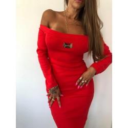 Ołówkowa, prążkowana sukienka Lola Bianka