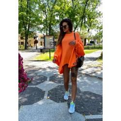 Asymetryczny  sweter oversize Orange