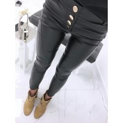 Spodnie  skórkowe z guzikami
