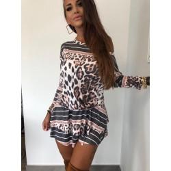 Sukienka welurowa pantera Lola Bianka