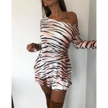 Sukienka welurowa zebra Lola Bianka