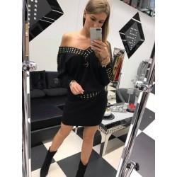 Czarna sukienka  Paparazzi Fashion