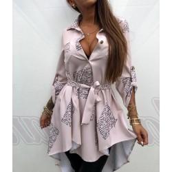 Beżowa sukienka z ogonem Lola Bianka