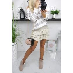 Modna bluzka/sweterek w srebrne paski