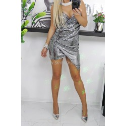 Sukienka Glitter Silver