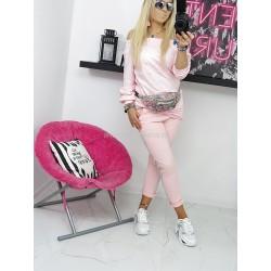 Komplet dresowy różowy Pearls