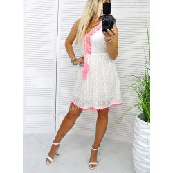 Sukienka z koronki LATINO White