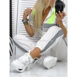 Komplet dresowy white -neon