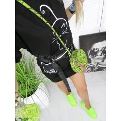 NOBO Okrągła torebka neon snake print