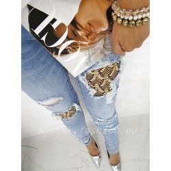 Spodnie Laulio jeans blue