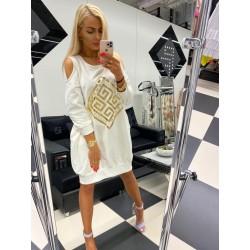 Paparazzi Fashion sukienka ecri