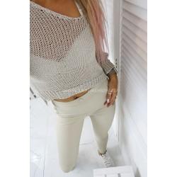 Asymetryczny krótki sweter Gold