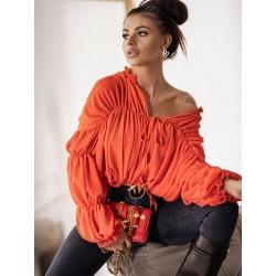 Koszula klasyczna z falbankami Jade Orange
