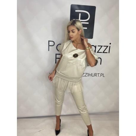 Dres, komplet Paparazzi Fashion ecru snake print