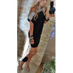 Tunika- sukienka czarna oversize