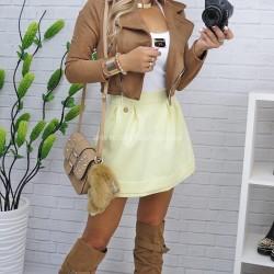 spódniczka letnia żółta mini