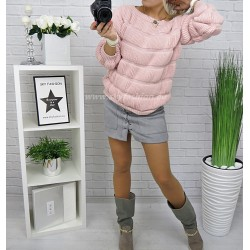 Zimowy   sweter Pink