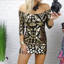 Prześliczna dopasowana sukienka  z cekinów