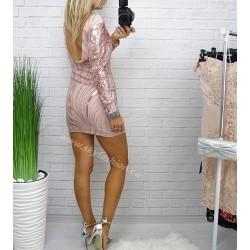 Różowa sukienka  wyszywana cekinami